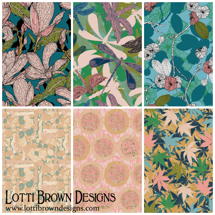 Japanese Garden collection by Lotti Brown
