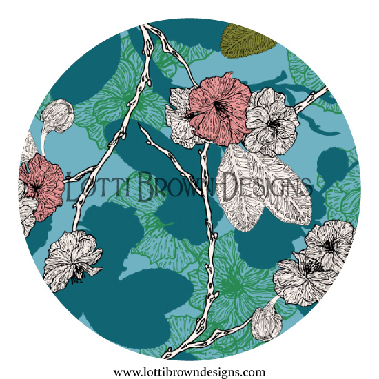 Cherry Blossom design detail