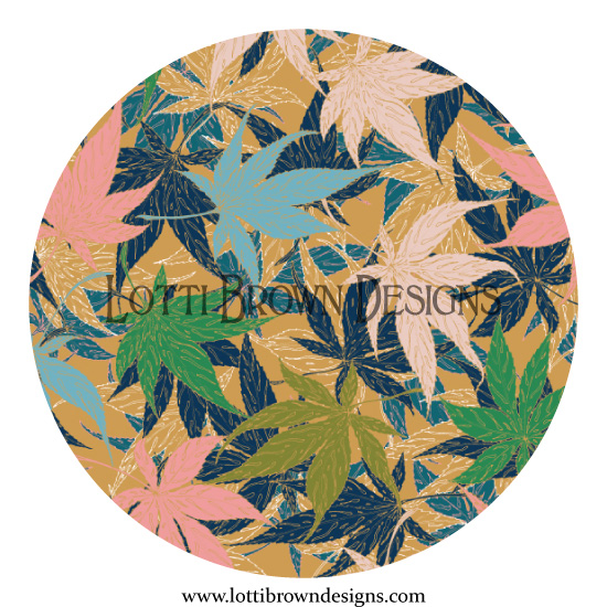 Maple Leaves design detail
