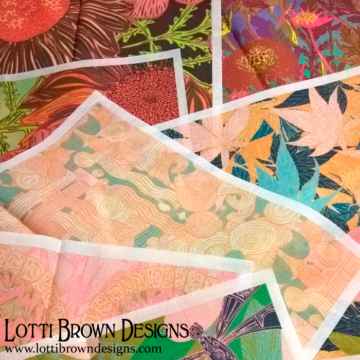 New fabrics will be available soon from Lotti Brown Designs
