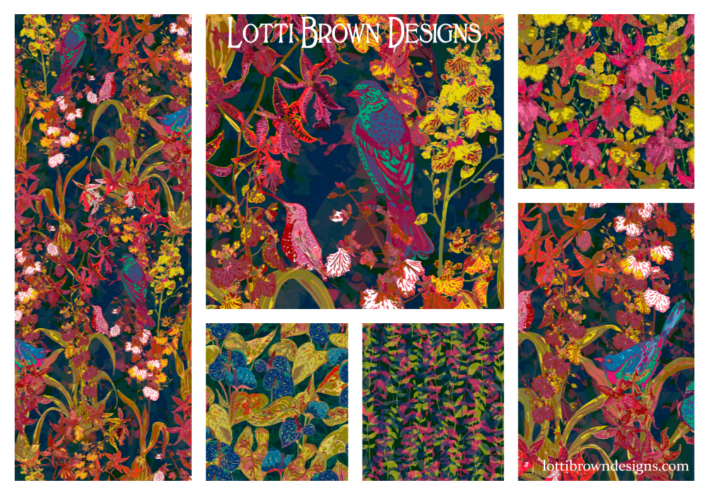 Tropical Jungle collection by Lotti Brown - click on the image to see a larger version