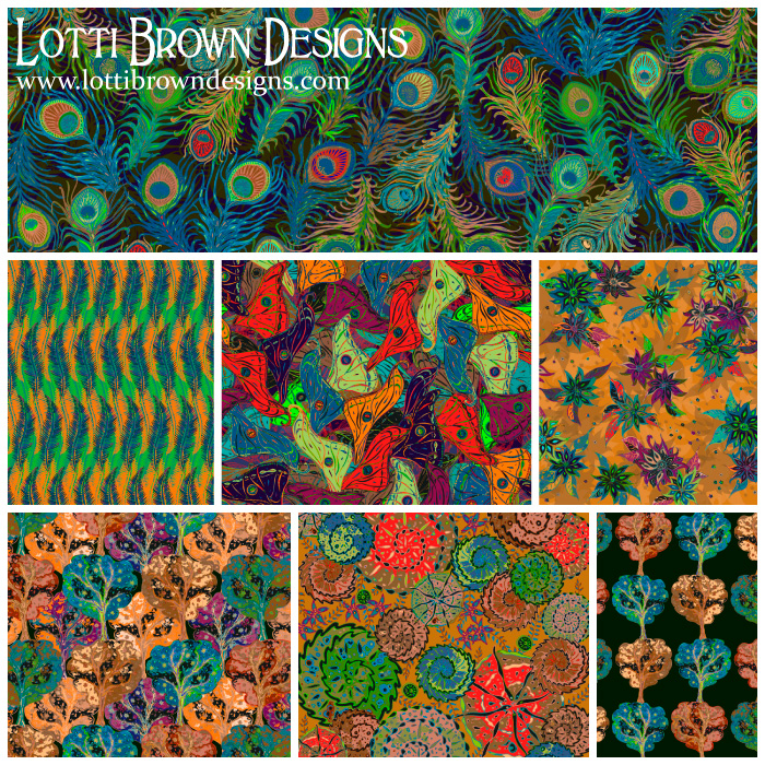 Feeling 'groovy'... surface pattern design collection