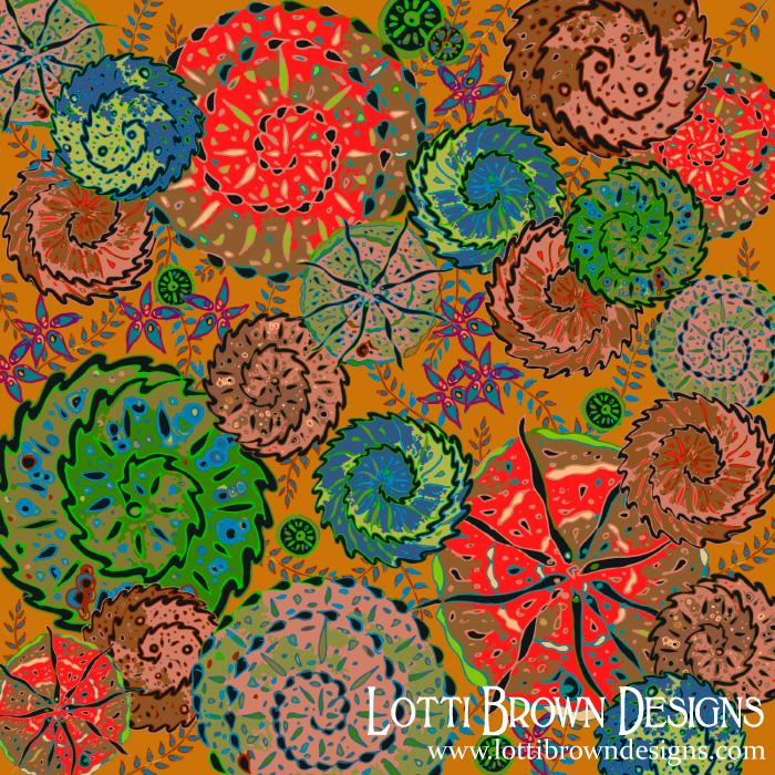 Groovy Spirals pattern by Lotti Brown
