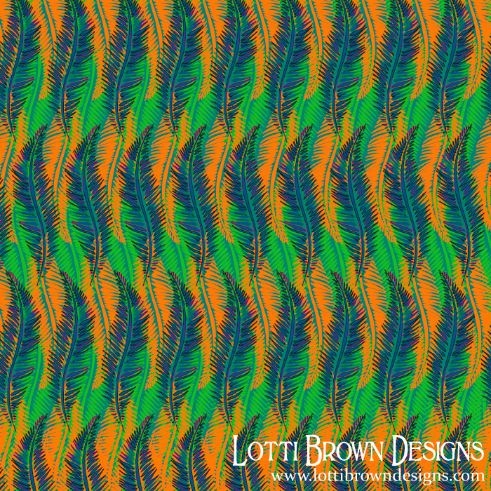 Groovy Feather pattern by Lotti Brown