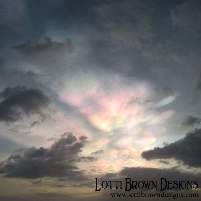 Nacreous clouds seen from East Yorkshire, 2 Feb 2016
