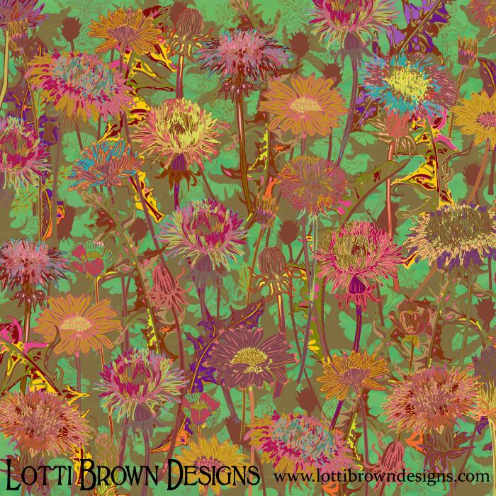 Dandelion Dawn floral art print