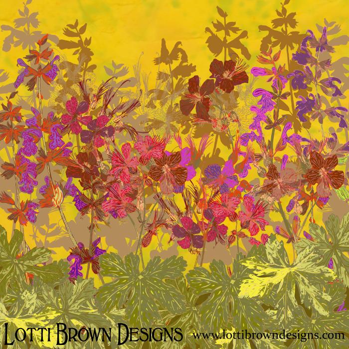 floral-art-print-geraniums-summer