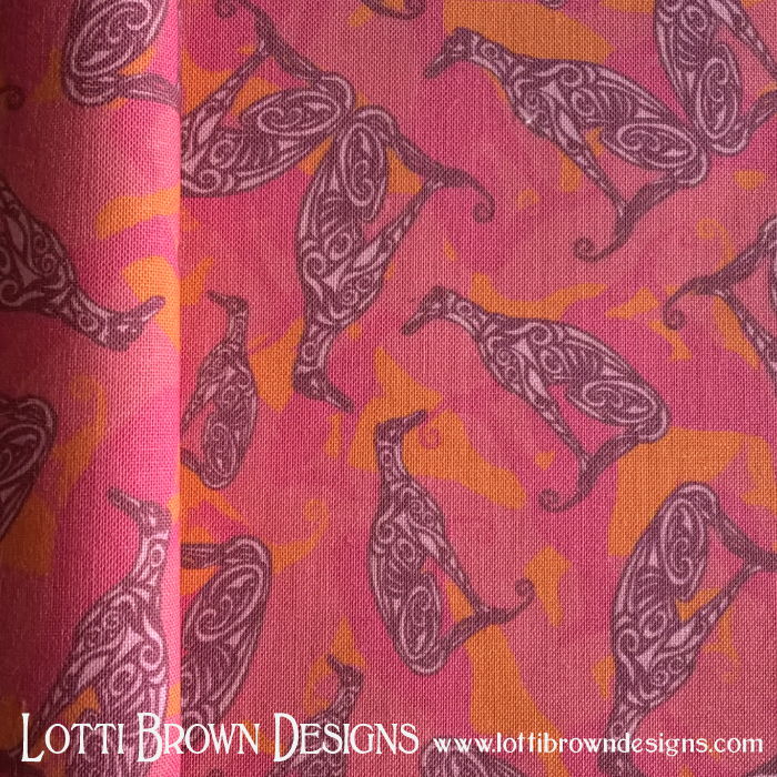 Greyhound fabric, pink