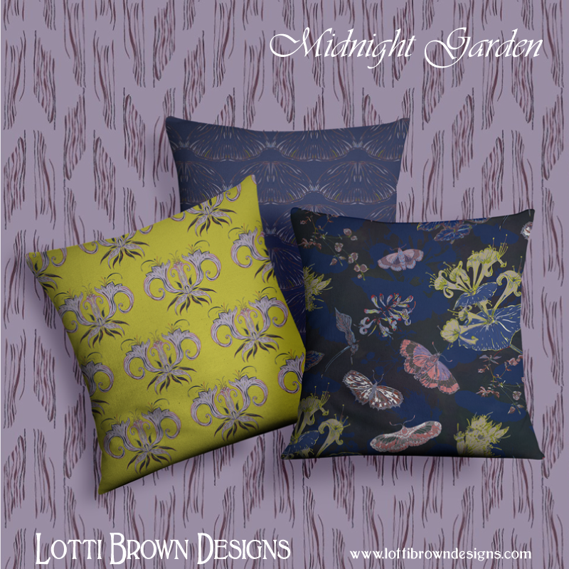 Ideas for how you might use the pattern collection - fabric to make cushions or curtains, wallpapers.