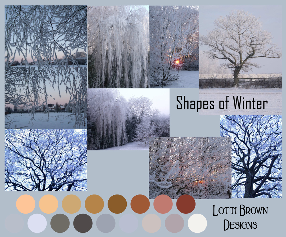 Shapes of Winter, moodboard for the collection