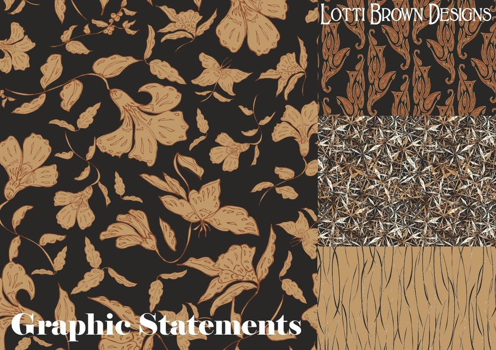 Graphic Statements surface pattern design collection