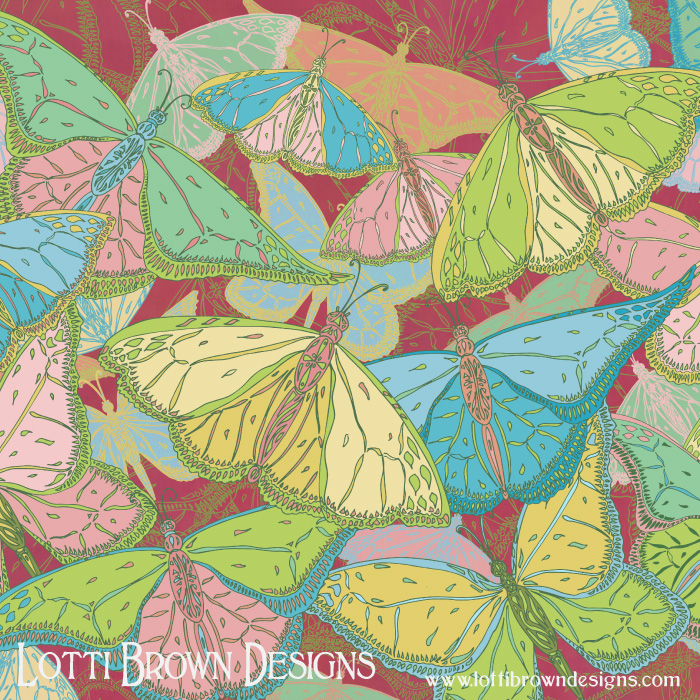Butterflies pattern by Lotti Brown