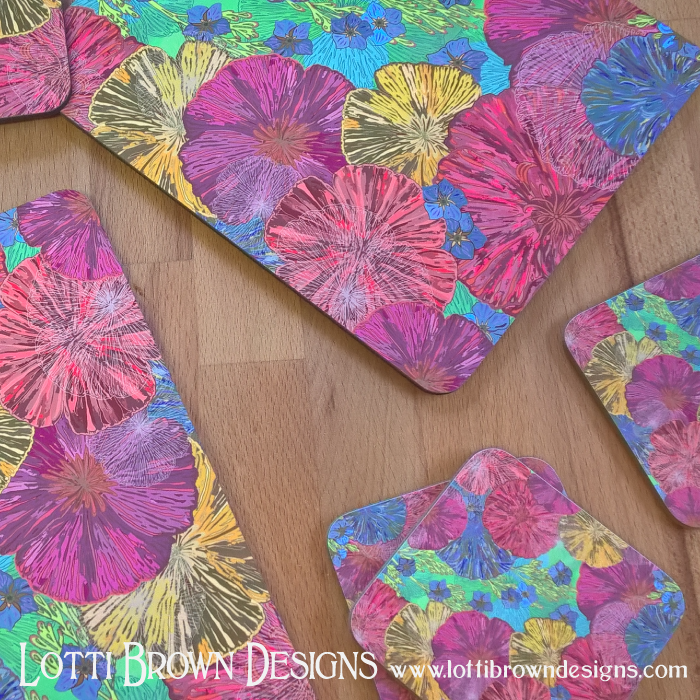 Zippi - Homewares including placemats, coasters, keyrings, cushions, mugs, phone/tech-cases and more...(Delivers internationally from the UK).Click Here to Browse Lotti Brown at Zippi...