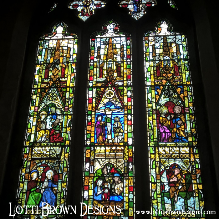Wonderful colourful stained glass from All Saints church in York