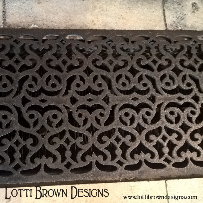 Intricate ironwork in the floor of York Minster