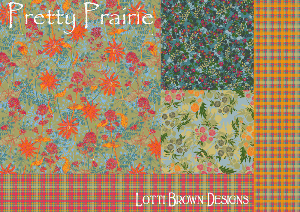 Pretty Prairie surface pattern design collection