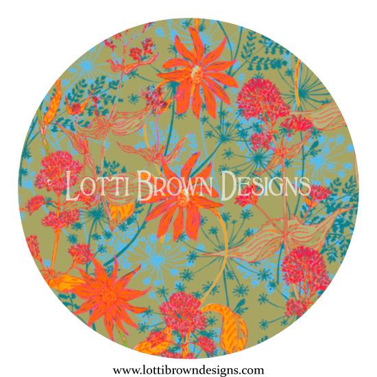 Prairie floral pattern