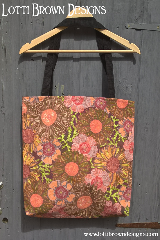 Lotti Brown daisy tote-bag, at Society6