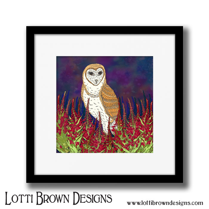 Framed and unframed fine art prints are available