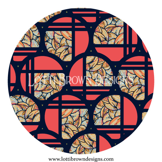 Art Deco Circles pattern