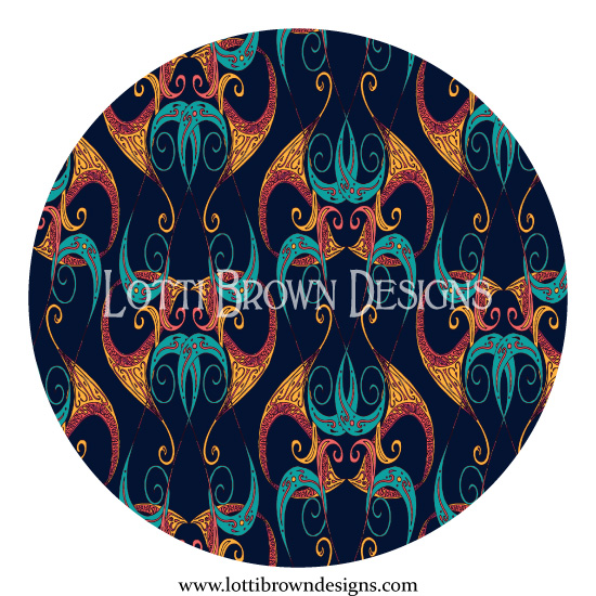 Art Deco Swirls pattern