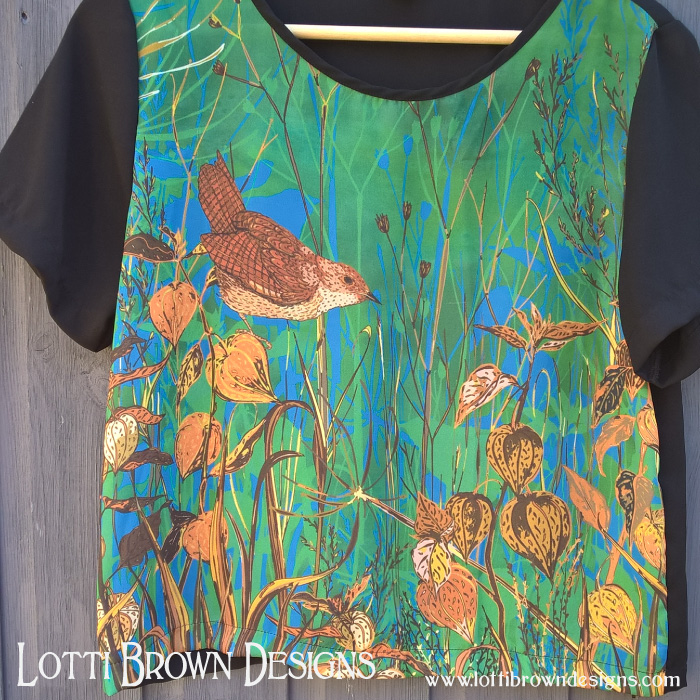 Wren fashion chiffon top - by Lotti Brown at Redbubble