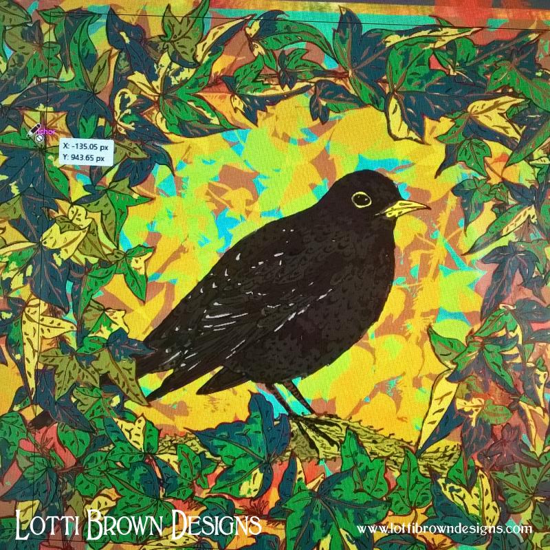 Tweaking colours digitally until the blackbird 'sings' to me