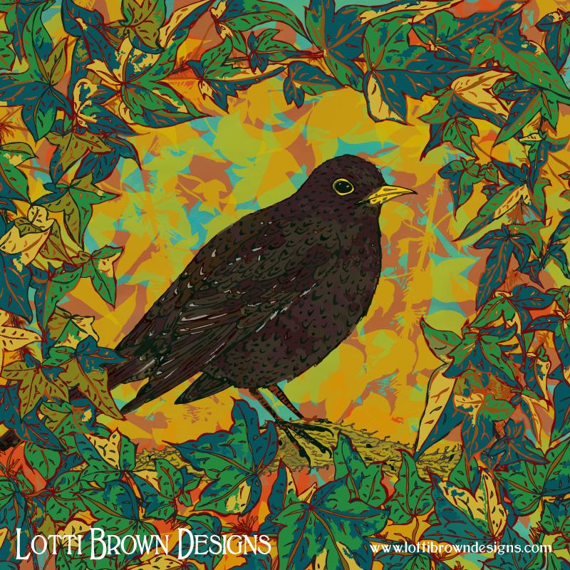 The final artwork: Blackbird and Ivy