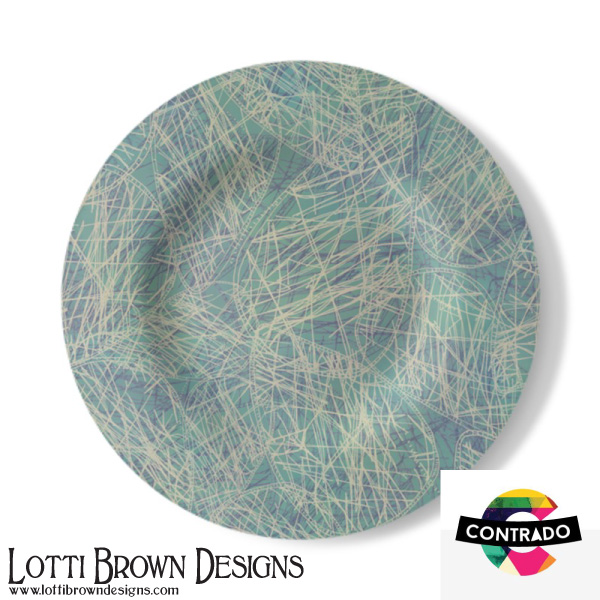 Stylish, contemporary decorative plate in my Jazzy Jasper design from my Beachcomber collection