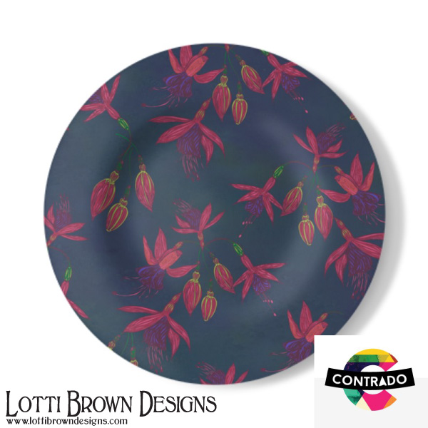 Fuchsias Decorative Plate
