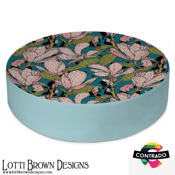 Magnolias Floor Cushion