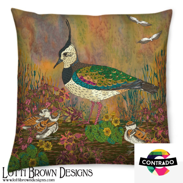 Lapwing cushion at Contrado