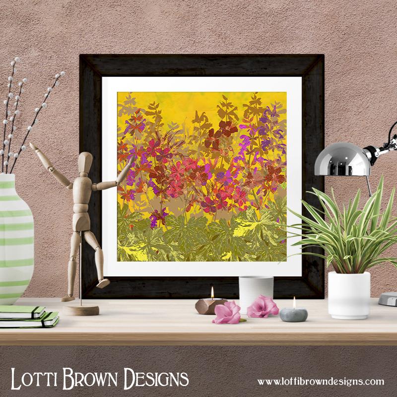 A Day in the Sun (Geraniums) art print