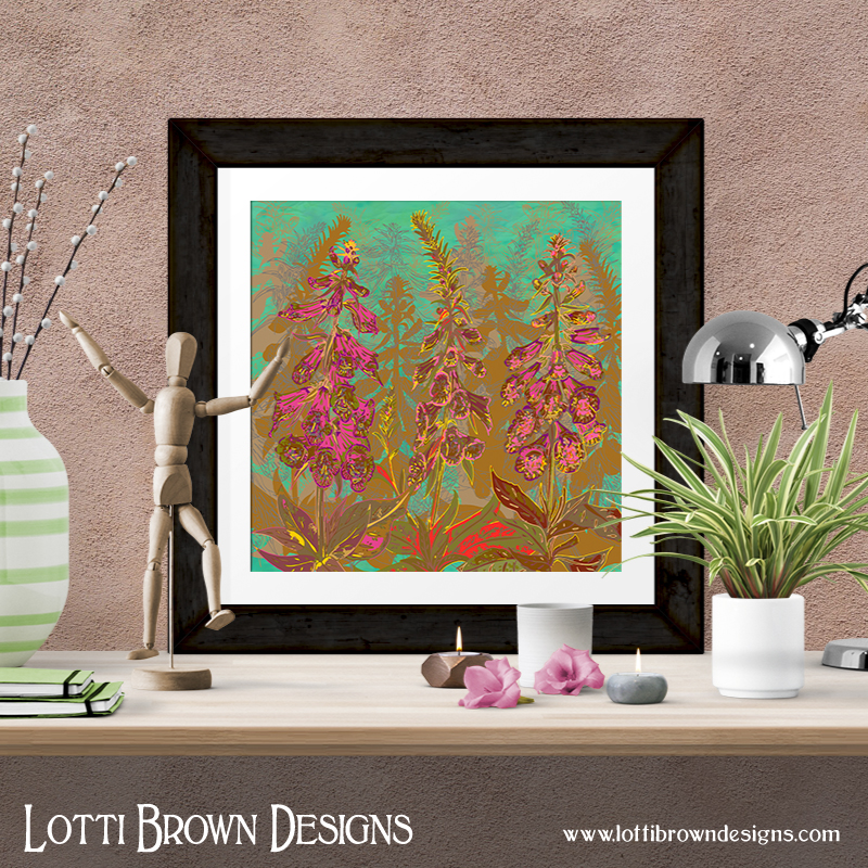 Fun with Foxgloves art print