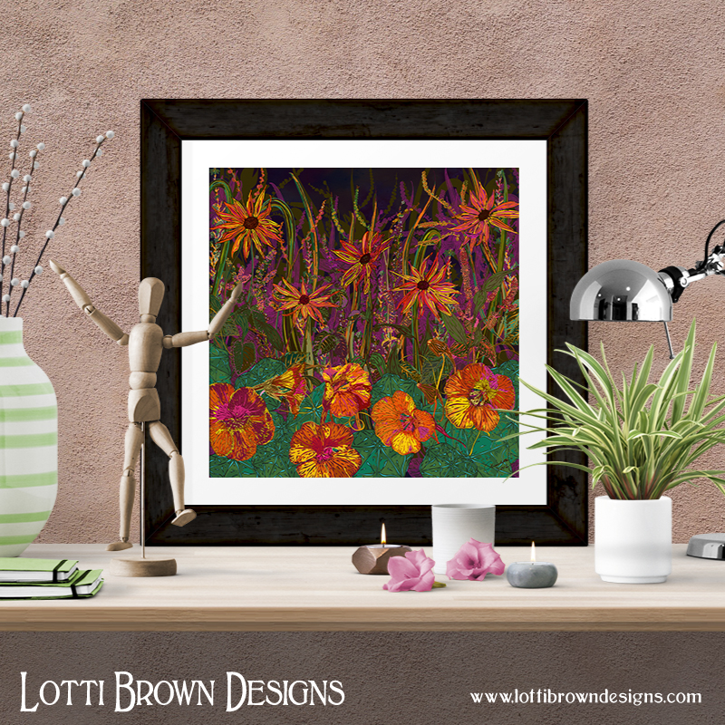 Autumn Flowers fine art giclee print