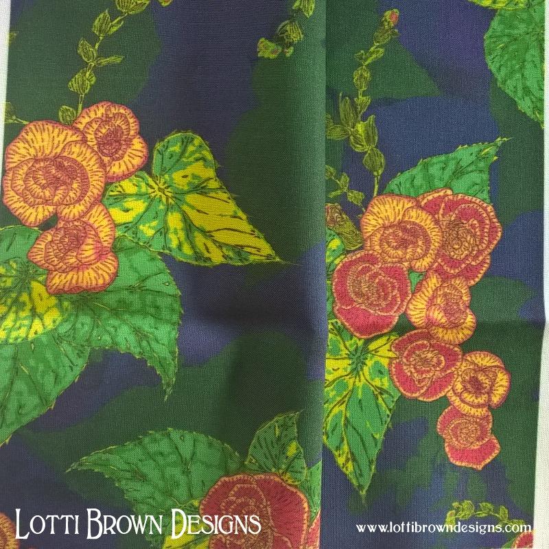 Parakeet Floral fabric