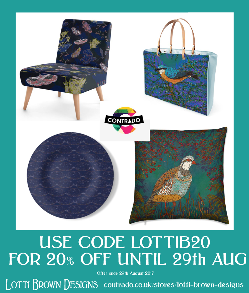 20% off at my Contrado store until 29th August 2017