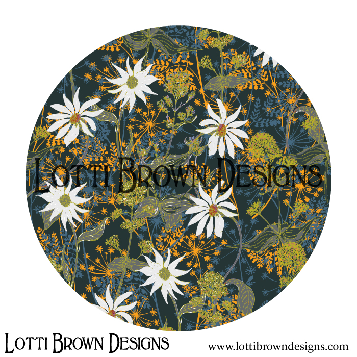 Prairie floral pattern, ideal for interiors (low res)