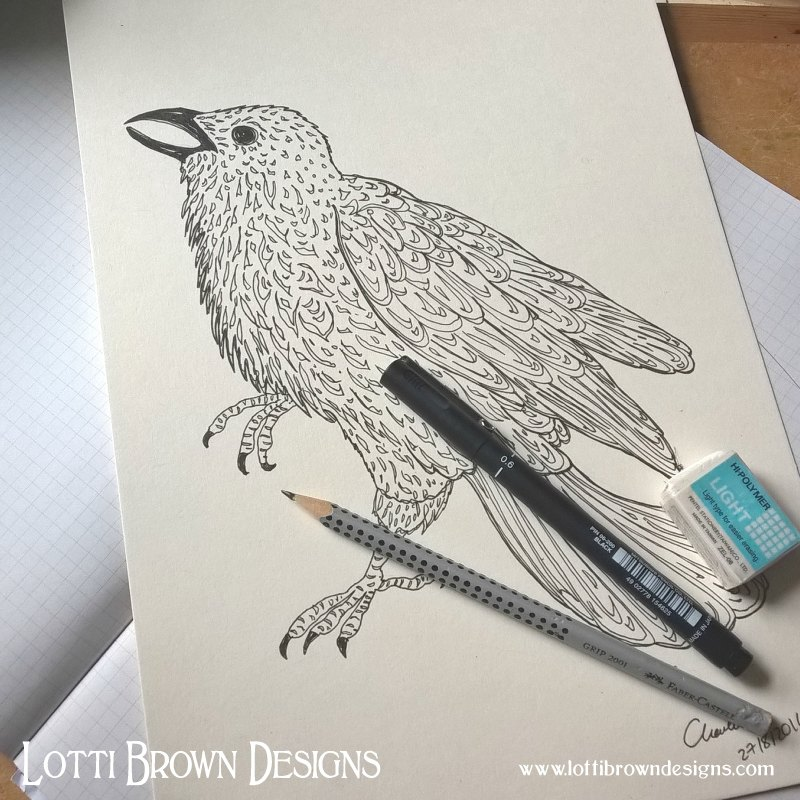 Raven Drawing - click to go behind the scenes