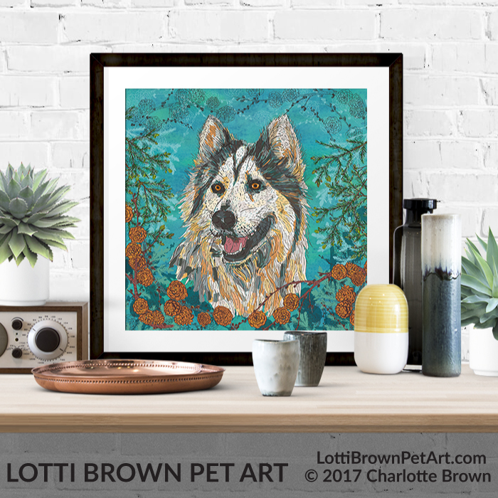 Husky art print available in my store