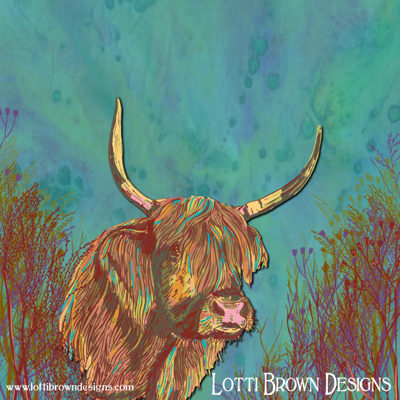 Highland Cow - click image to go behind the scenes