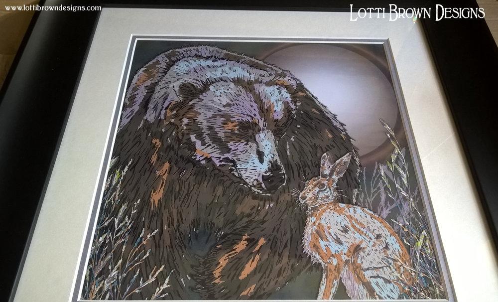 Black frame with custom artwork