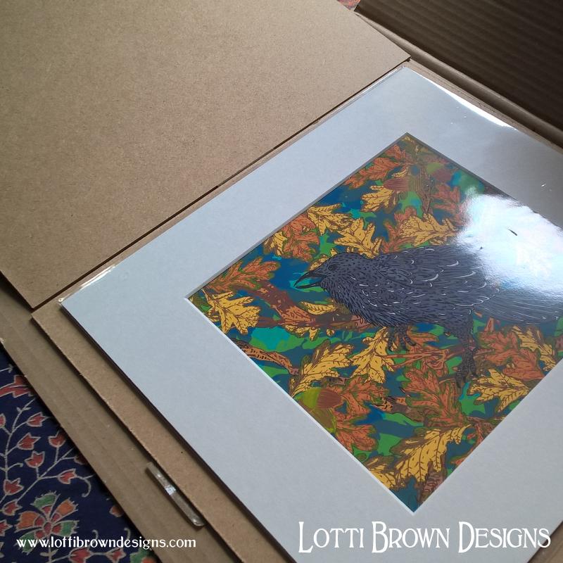 The mounted art print arrives undamaged
