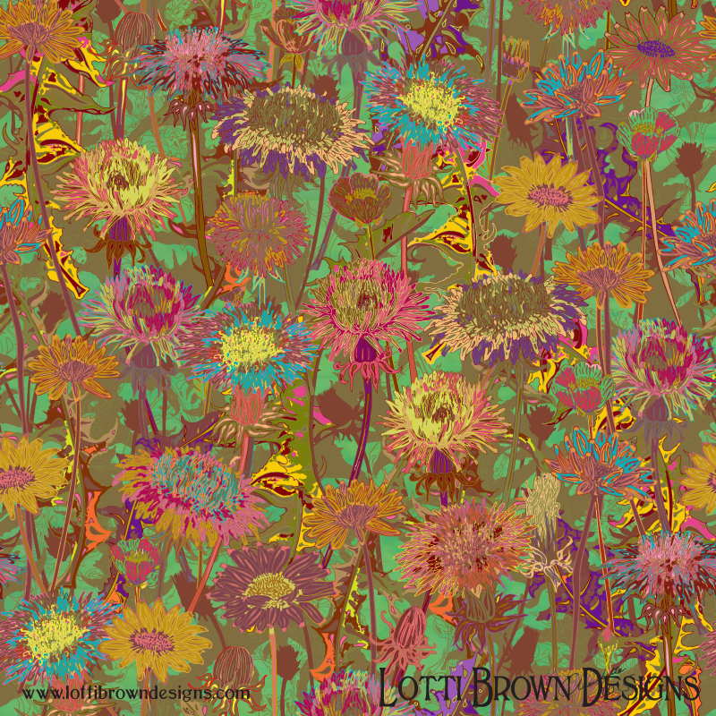 'Dandelion Dawn' wildflower art print