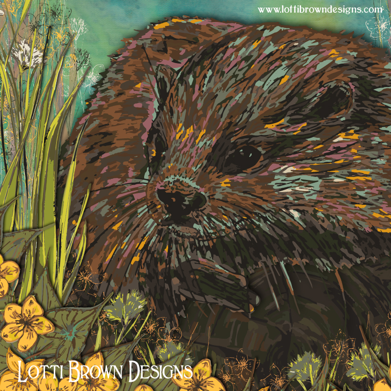 Detail from the otter artwork