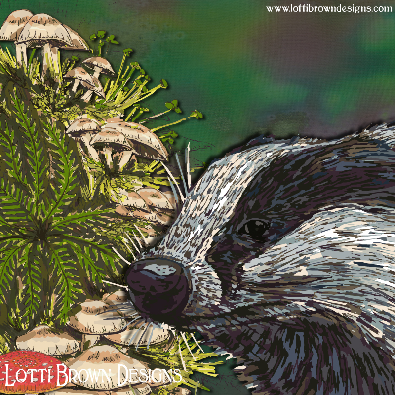 Badger art detail