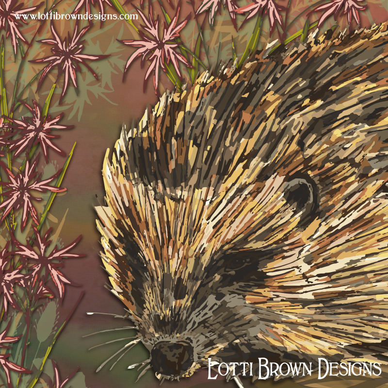 Detail from the hedgehog artwork