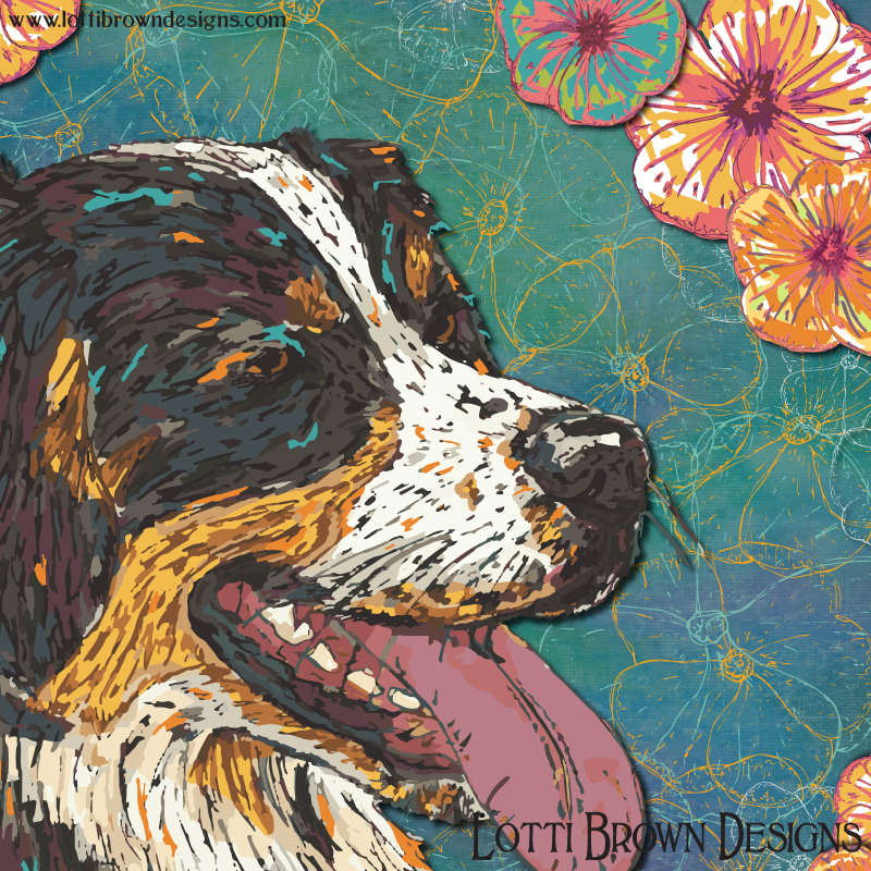 Detail of Bernese art print