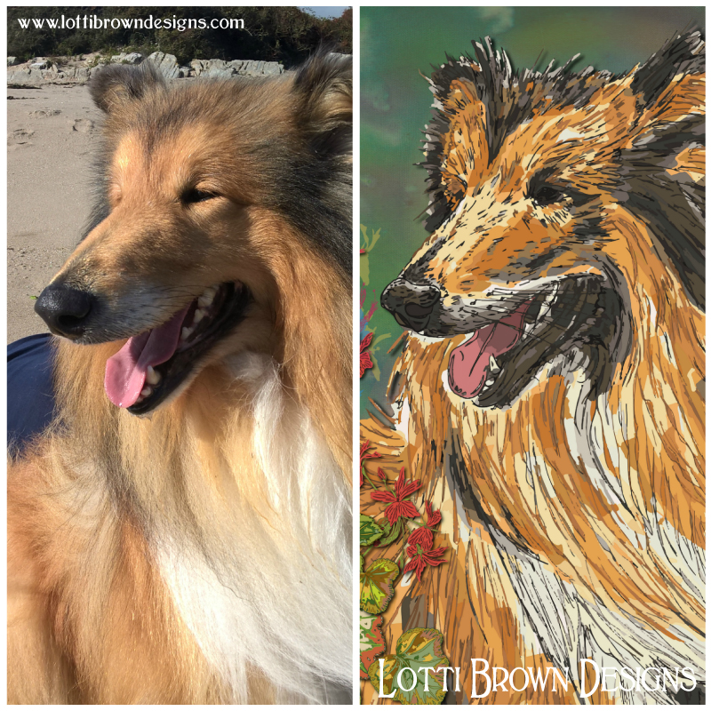 Pet portrait from photo