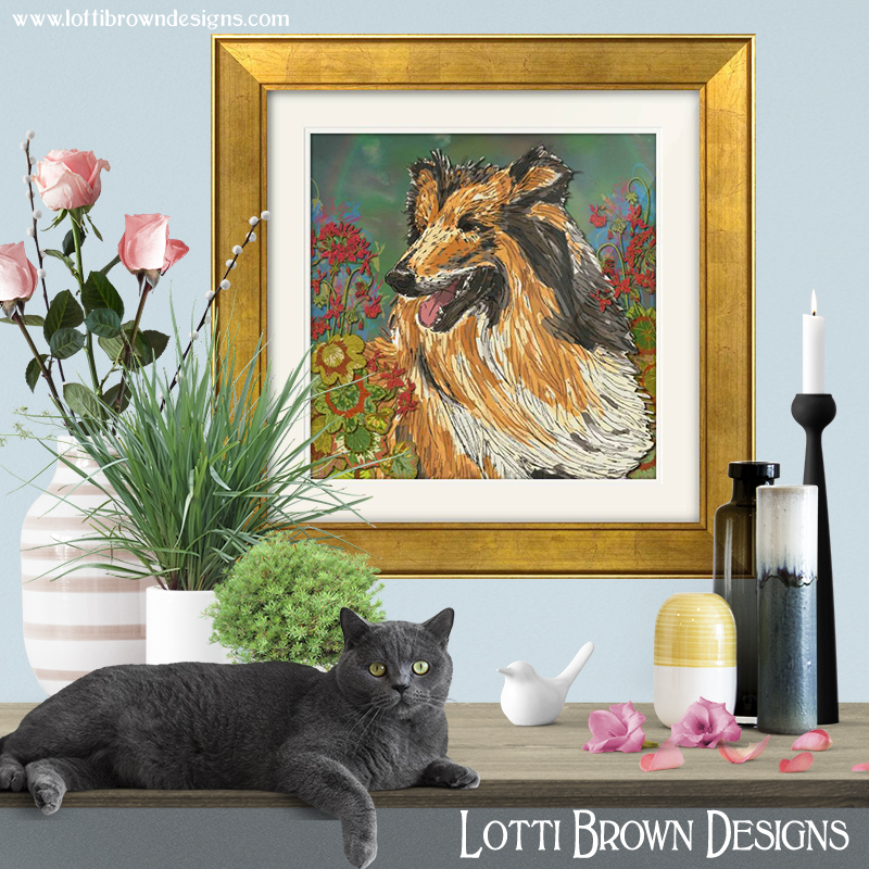 rough_collie_Art_print_framed_blue_room.jpg